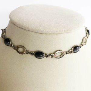 Jewelry - 90's Gray Cat's Eye Choker & Bracelet Set